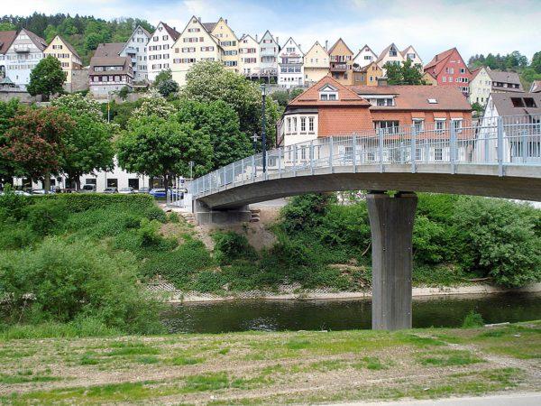 Ingenieurbauwerke - Flößersteg über den Neckar