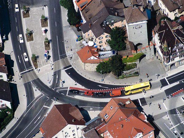 Verkehrsanlagen - Neubau der Grenzbachstraße in Konstanz mit Umbau Schnetztorknoten, Döbele-, Schützen-, Schultheiß- und Gottlieben Straße